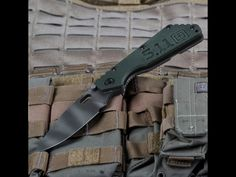 5.11 Tactical and Strider Knives collaborated to create the limited edition SMF knife.