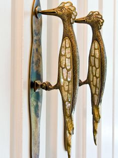 Lovely bird door handles