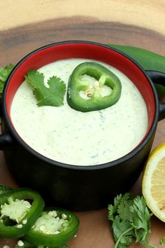 "Lick-the-Spoon Cilantro Jalapeno Aioli | ""Absolutely delicious! Made as written with the addition of the lime zest. Served with baked sweet potato fries for dipping. This would be a great sauce for any summertime pasta salad, wraps, sandwiches, etc."" #dinnerideas #dinnerrecipes #dinnerdishes #familydinnerideas #supper #supperideas"
