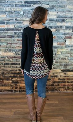 The Pink Lily Boutique - Open Mind Blouse, $36.00 (http://thepinklilyboutique.com/open-mind-blouse/)