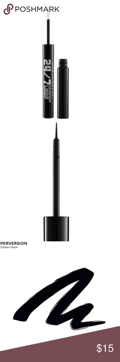 URBAN DECAY 24/7 Waterproof Liquid Eyeliner BLACK Draw liquid lines so sharp they could cut glass. Our slender brush lays down long-lasting matte, slick and shimmery shades sure to satisfy. Achieve clean, sharp WATERPROOF lines with shocking ease. The newest addition to our 24/7 franchise is available in a veritable rainbow of long-lasting, highly-pigmented, WATERPROOF Use the ultra-fine brush tip to create lines that are razor-thin or thick, even and bold. The brush is also short and easy…