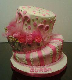 Torta inclinada(caja de flores)