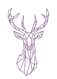 Geometric Deer Head Wall Sticker Geometry Animal Series Decals 3D Vinyl Wall Art Custom Home Decor Size 51x86 cm Más