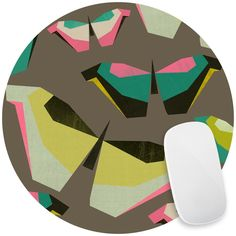 Neon Butterflies Mouse Pad Decal