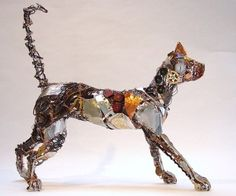 barbara franc art | Wire and recycled metal animal sculptures Barbara Franc