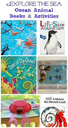 Fun ideas for crafts & activities along with book pairings that teach about ocean animals!