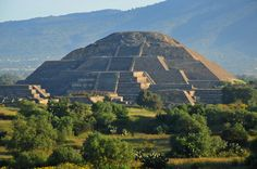 Pyramid of the Moon  Teotihuacan, Mexico.... pretty soon this place will be off my bucket list :)