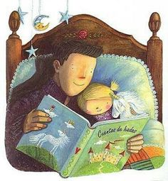Reading fairytales with daddy