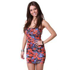 #Floral Strapless #Dress
