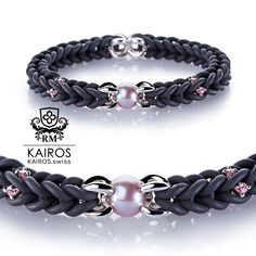 Pink pearl bracelet with pink Swarovski Zirconia and silver elements. Designer fashion bracelet by KAIROS. Swarovski Bracelet, Pearl Bracelet, Ankle Bracelets, Jewelry Bracelets, Fashion Bracelets, Pearls, Silver, Pink, Fashion Design