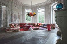 Böhmische Wohnzimmer -Roche Bobois' Modular-Sofa-Design