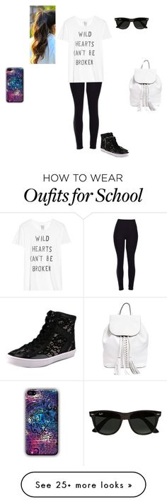 """School Outfit! ☺"" by wwedivas462 on Polyvore featuring Zoe Karssen, Rebecca Minkoff, Ray-Ban, women's clothing, women's fashion, women, female, woman, misses and juniors"