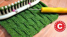 Como Telar | Tejer el Punto Oruga en Telar | Loom Knit the Caterpillar S...