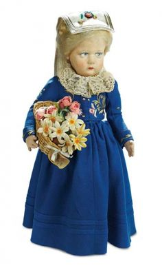 Many Wonderful Things : 84 Italian Felt Doll in Traditional Costume of Liguria by Lenci