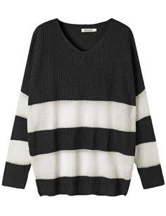 Doublju Womens Loose Fit Stripe Sweater Doublju http://www.amazon.com/dp/B00OK6V5R2/ref=cm_sw_r_pi_dp_2I1Oub016S2KM