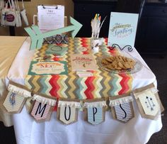 MOPS BE YOU BRAVELY promotion table!