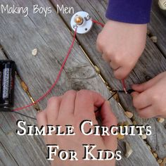Simple Electrical Circuits for Kids. (Think of ways to expand this to more complex electrical engineering lessons) by proteamundi 4th Grade Science, Stem Science, Preschool Science, Elementary Science, Science Fair, Science Lessons, Teaching Science, Science For Kids, Teaching Ideas