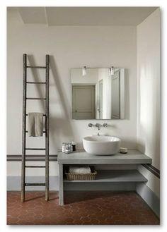 atmosphère, béton, contemporaine, décoration, émail, faïence, hydrofuge, minérale, moderne, salle de bain, salles de bain