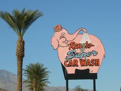 Retro Sign - Car Wash in Palm Springs
