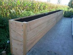 Garden boxes raised beds planters new ideas Backyard House, Backyard Landscaping, Wood Planters, Garden Planters, Planter Ideas, Back Gardens, Outdoor Gardens, Raised Planter Beds, Raised Beds