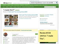 """Chef LeeZ review #338 """"I made This"""" Over 338 organic reviews in under 3 years! Still TA #1 every years since 2011! #Chef LeeZ #Reviews Clipped from www.tripadvisor.com"""