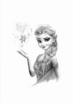 Frozen - elsa pencil drawing by cultscenes on etsy Elsa Drawing, Realistic Pencil Drawings, Girly Drawings, Princess Art, Elsa Frozen, Princesas Disney, Pictures To Draw, Disney Art, Fantasy Art