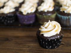 Chocolate Stout Cupcakes with Whiskey Buttercream and Salted Whiskey Caramel! | Veggie and the Beast