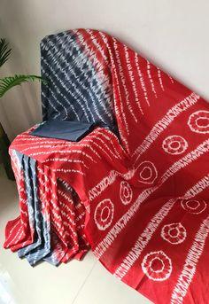 Ethnic Sarees, Casual Saree, Tie Dye Dress, Saree Styles, Printed Sarees, Party Wear Sarees, Cotton Saree, Shibori, Saree Blouse