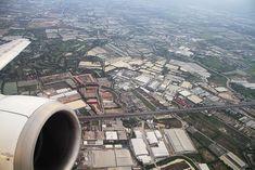 Seeing the World Through an Airplane Window - Leaving Bangkok, Thailand