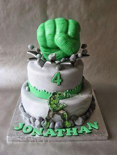 The Incredible Hulk birthday cake Pinteres