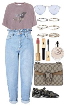 """""""Untitled #5089"""" by dudas2pinheiro ❤ liked on Polyvore featuring Yves Saint Laurent, Miss Selfridge, Gucci, Ray-Ban, Boohoo, Dolce&Gabbana and Valentino"""