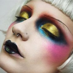 This look is inspired by the woman that captured my imagination and made me want to become a make-up artist This is based upon her breathtaking runway work for Make Up Looks, Makeup Inspo, Makeup Art, Lip Makeup, Makeup Ideas, Gold Makeup, Fairy Makeup, Mermaid Makeup, Art Visage