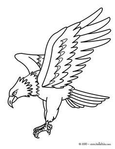 Das Adler stuerzt runter Ausmalbild aus der Kategorie