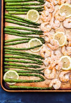 Lemon Roasted Shrimp and Asparagus with Herbed Couscous!