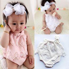 Baru lahir Bayi Perempuan Bodysuit Lucu Bebes Tubuh Pakaian Jumpsuit Outfit Pakaian Bermain Bunga Pakaian 0-18 M