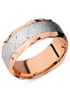 Meteorite in a Rose Gold band.