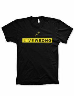 Lance Armstrong tshirt Live Wrong Livestrong shirt funny bicycle tshirt  Large ...