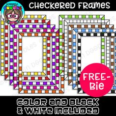 Our Checkered Borders includes 9 colored and 1 black and white border.Border come in PNG format.Quality has been reduced in sample pictures,This collection comes with a single user license. For more information please read our Borders For Paper, Borders And Frames, Free Doodles, Doodle Frames, Page Borders, Classroom Themes, Classroom Clipart, Frame Clipart, School Decorations