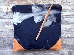 THE CONSTELLATION leather and canvas clutch by scoutandcatalogue