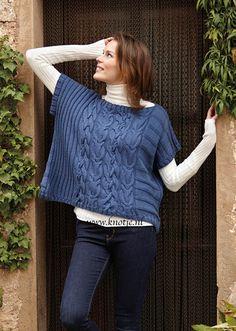 Breien. Deze trui is gemaakt met de Katia Merino Fine. Verkrijgbaar in 36 kleuren. Katia Merino Fine is een mooie dunne draad. Dit garen is gemaakt van 52% merino wol en 48% acryl, waardoor het een zeer sterke draad is.  Model en patroon staan beschreven in het patronenboek Katia Speciaal Basic Garen No. 11 (model 14) Katia Basics 11 pag 11bkopie.jpg