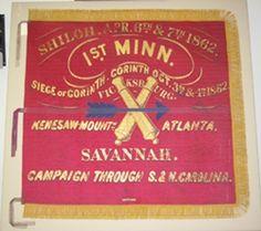 American Civil War Artillery -                                                              First Battery Minnesota Light Artillery Battle Flag