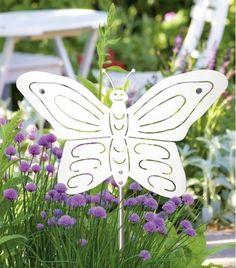 Gartendeko edelstahl gartenstecker  Gartenstecker #Reiher #Edelstahl #Garten #Deko #Deco von #HEIBI ...