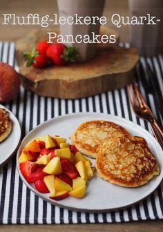 Heute gibt es hier fluffig-leckere Quark-Pancakes. Und ihr so? | Das Rezept gibt's auf: www.sarahs-greenfield.blogspot.com