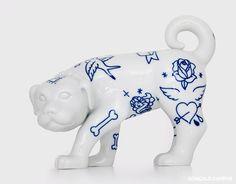 tattoo ideas... on a ceramic dog.