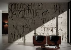 Alphabet: Words by Glamora | Vintage Wall Covering | Interior Decor