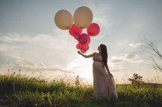 ensaio gestante com balões