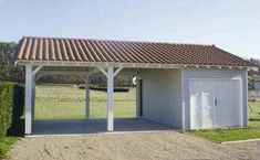 , Carport - wooden garage - techni-contact # carport There are various things which may finally total the garden, including a well used whitened picket containment. Carport Sheds, Carport Plans, Carport Garage, Pergola Plans, Shed Plans, Garage Doors, Pergola Carport, Enclosed Carport, Plan Garage