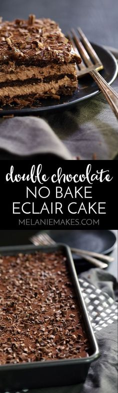 Double Chocolate Eclair Cake