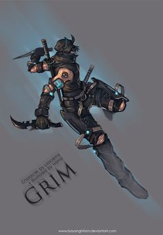 Commission : Grim by bayanghitam.deviantart.com on @DeviantArt