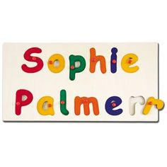 Show details for Wooden Name Jigsaw - 8-14 Letters